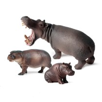 Educational Realistic Hippopotamus Wild Animals Figures Playset Toys