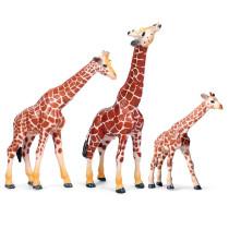 Educational Realistic 3PCS Giraffes Animals Figures Playset Toys