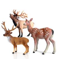 Educational Realistic Elk Deer Figures Playset Toys