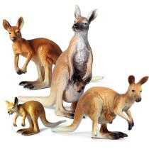 Educational Realistic Kangaroo Animals Figures Playset Toys