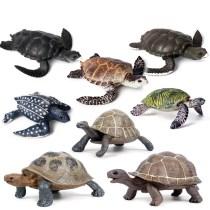 Educational Realistic Sea Turtle & Tortoise Figures Playset Toys