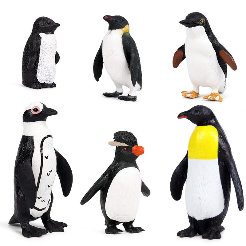 Educational Realistic Safari Polar Life Penguins Figures Playset Toys
