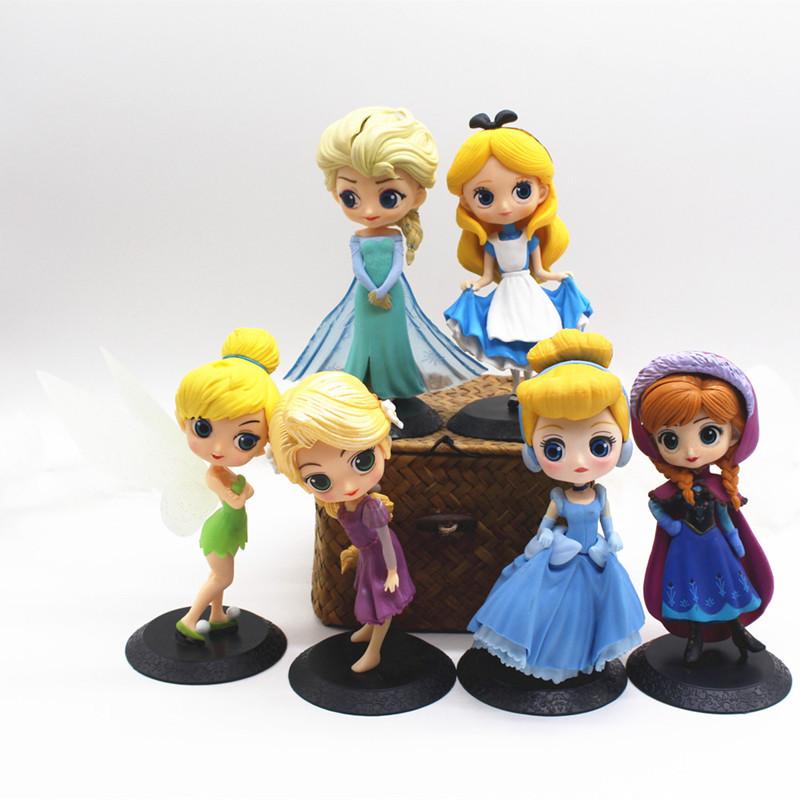 6PCS Princess Model Cake Topper Decoration Figures Playset Toys