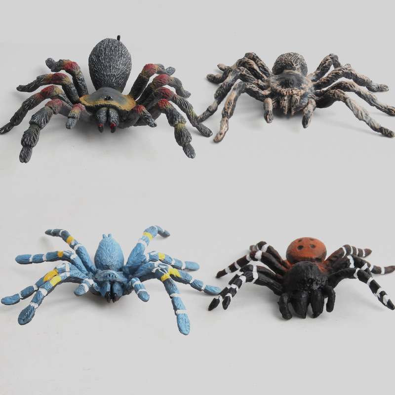 Educational Realistic Rubber Fake Spider Model Figures Playset Toys