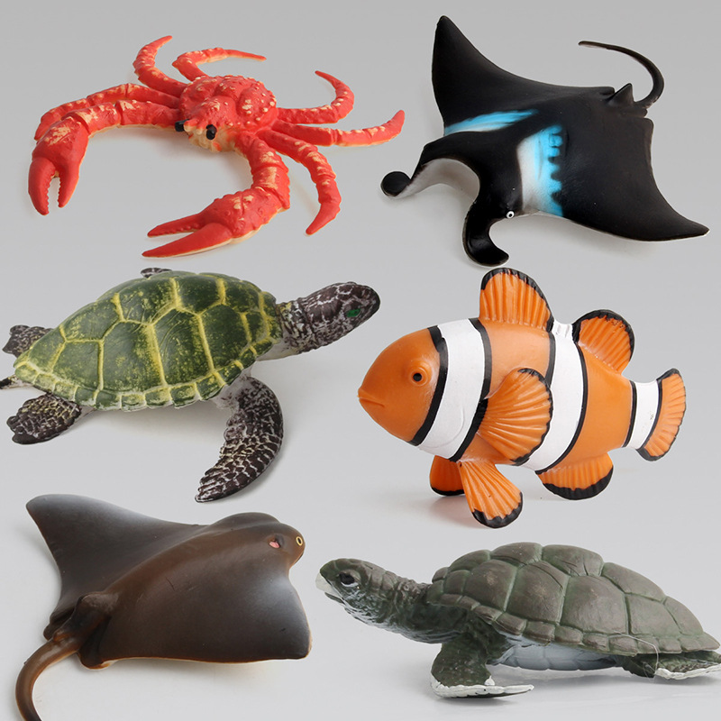 Educational Realistic 14PCS Underwater Sea World Marine Model Life Figures Playset Toys