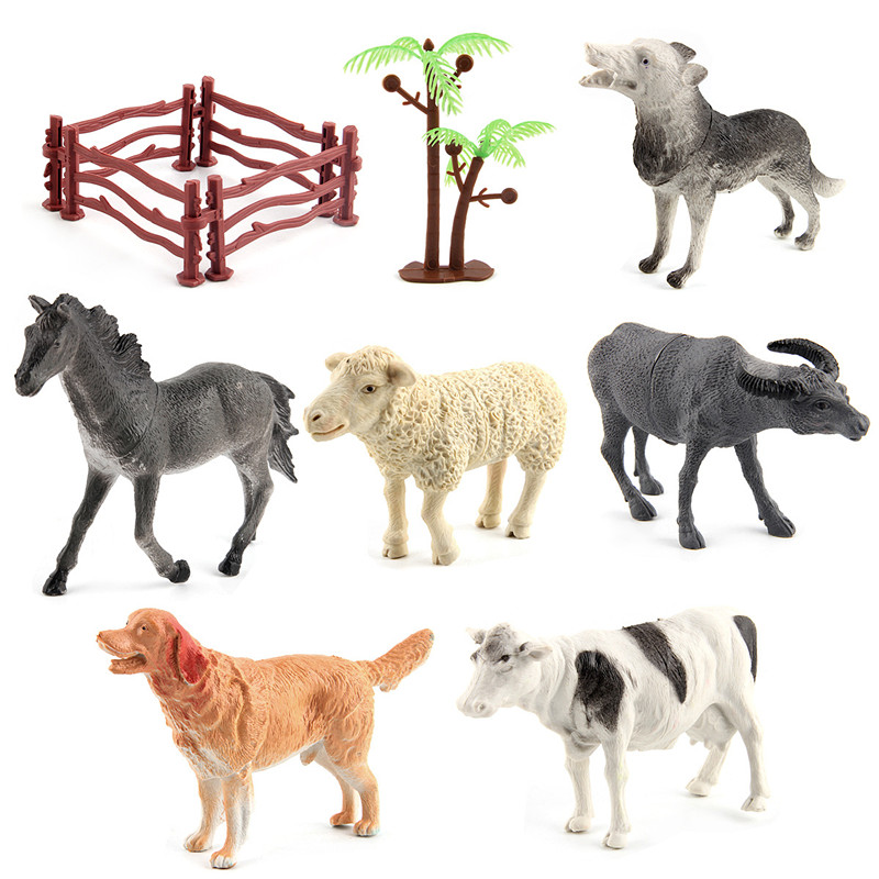 Educational Realistic 8PCS Fram Model Animals Figures Playset Toys