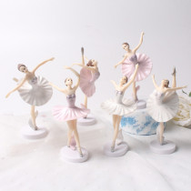 3PCS Ballerina Ballet Girl Cake Topper Decoration Figures Playset Toys