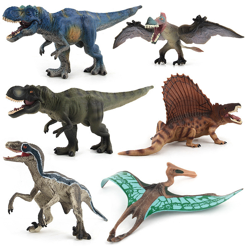 Educational Realistic 6PCS Dinosaurs Animals Model Figures Playset Toys