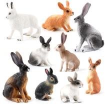Educational Realistic Rabbit Animals Model Figures Playset Toys