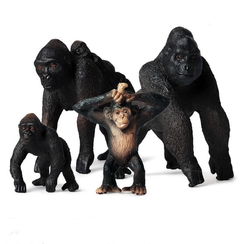 Educational Realistic Gorilla Monkey Model Figures Playset Toys