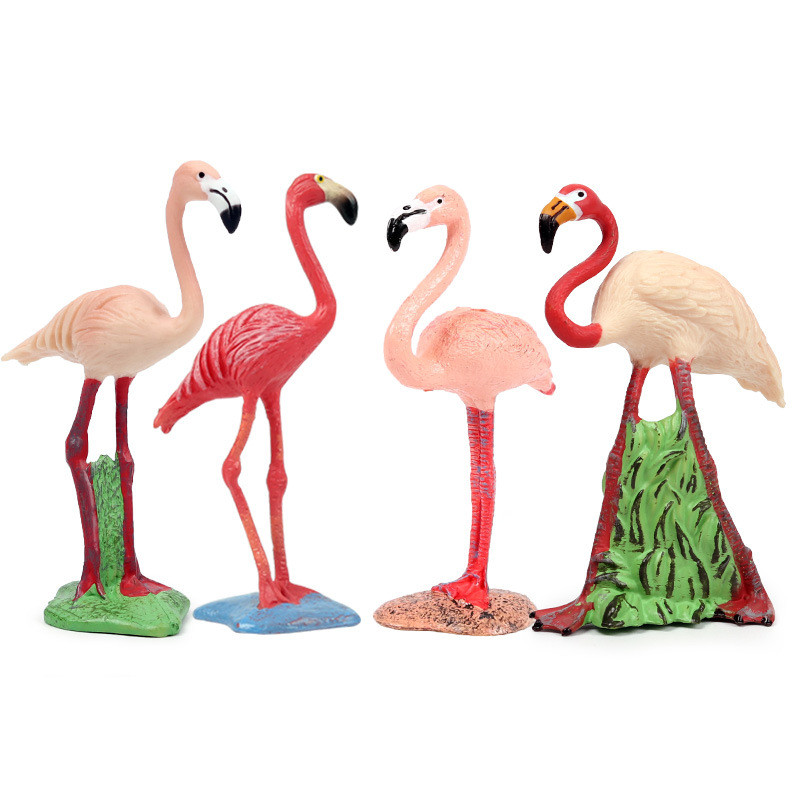 Educational Realistic Flamingo Animals Decoration Figures Playset Toys