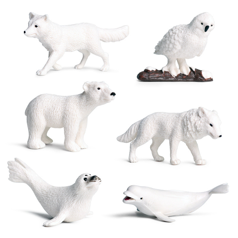 Educational Realistic North Pole Animals Mini Model Sets Figures Playset Toys