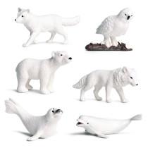 Educational Realistic North Pole Animals Mini Model Sets Figures Playset Toys