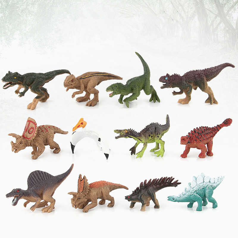 Educational Realistic 12pcs Dinosaurs Model Figures Playset Sets Toys