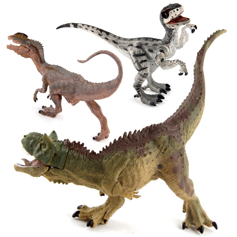 Educational Realistic 4PCS Jurassic Dinosaur Model Figures Playset Toys