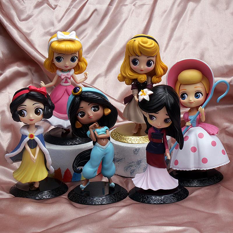 4PCS Fairy Princess Model Cake Topper Decoration Figures Playset Toys