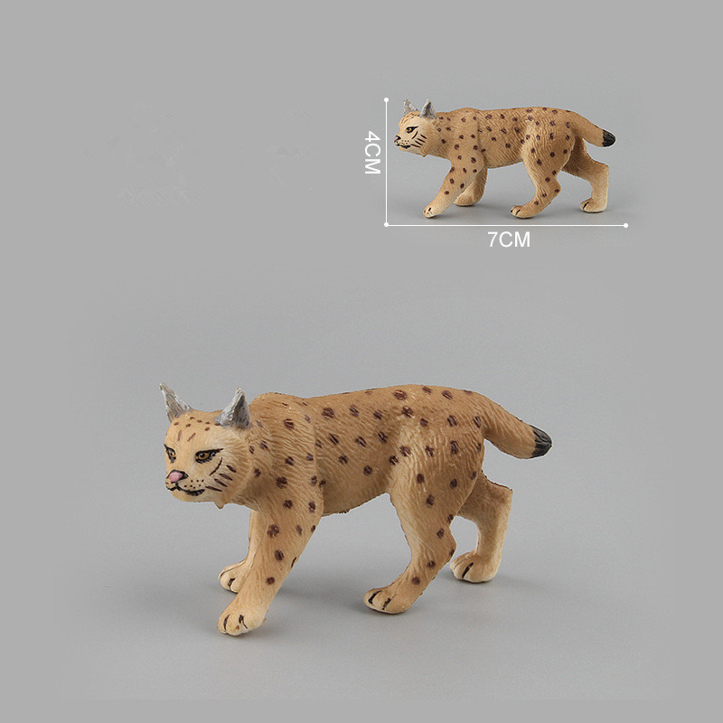 Educational Realistic Simulation Lynx Serval Animals Model Figures Playset Toys