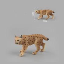 Educational Realistic Simulation Lynx Serval Animals Model Figures Playset Toys