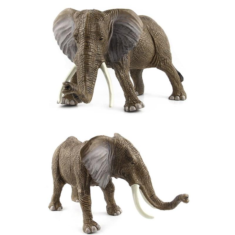 Educational Realistic Elephant Wild Animals Figures Playset Toys