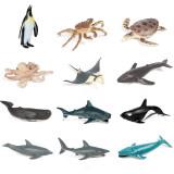 Educational Realistic 12PCS Sea Animals Mini Model Sets Figures Playset Toys