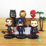 Marvel Hero Model 6pcs Cake Topper Decoration Figures Playset Toys