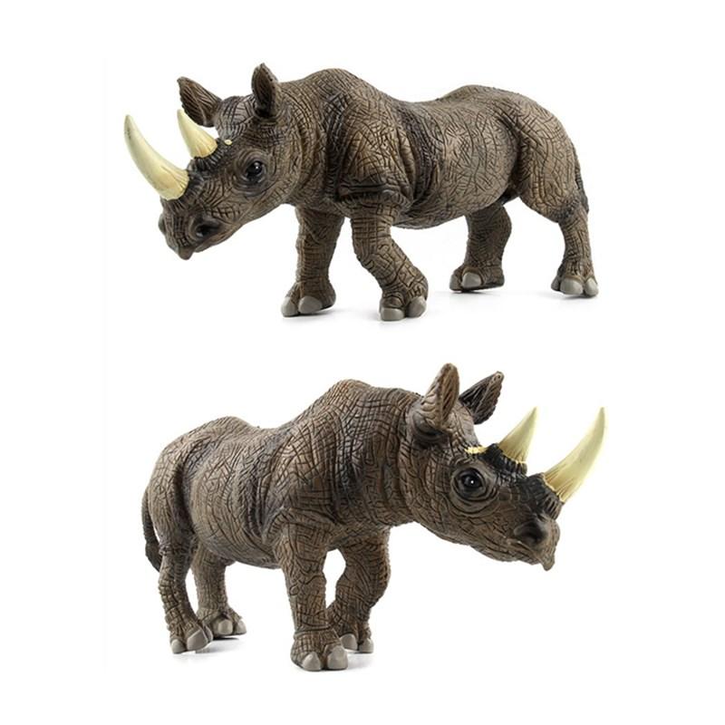 Educational Realistic Dicerorhinus Wild Animals Figures Playset Toys