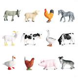 Educational Realistic 12PCS Farm Animals Mini Model Sets Figures Playset Toys