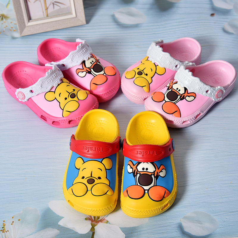 Toddle Kids 3D Winnie the Pooh Beach Summer Slippers Shoes