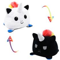 The Original Reversible Unicorn Patented Design Hairball Soft Stuffed Plush Animal Doll for Kids Gift