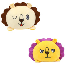 The Original Reversible Lion Double Faced Expression Patented Design Soft Stuffed Plush Animal Doll Toy