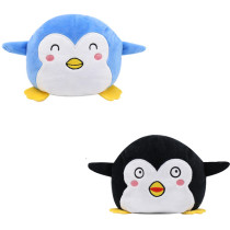 The Original Reversible Penguin Double Faced Expression Patented Design Soft Stuffed Plush Animal Doll Toy