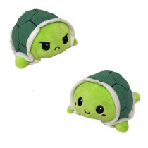 The Original Reversible Tortoise Patented Design Soft Stuffed Plush Animal Doll for Kids Gift