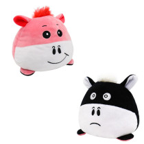 The Original Reversible Calf Double Faced Expression Patented Design Soft Stuffed Plush Animal Doll Toy