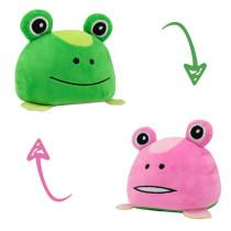 The Original Reversible Frog Patented Design Soft Stuffed Plush Animal Doll for Kids Gift