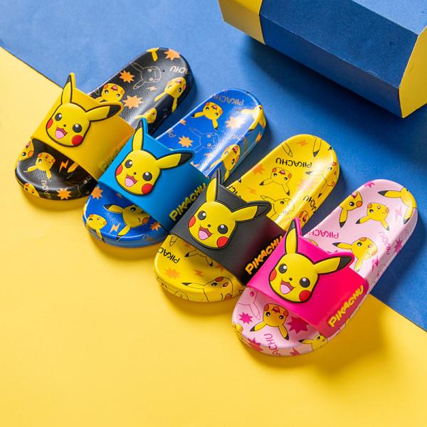 Toddlers Kids Pokemon Pikachu Printing Flat Beach Summer Slippers