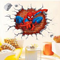 3D Cartoon Spider-Man Door Room Waterproof Decorative Wall Stickers