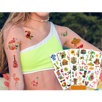 10 Sheets Hawaii Party Supplies Art Temporary Tattoos for Kids