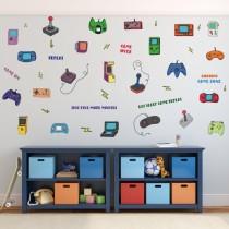 Creative Graffiti Gamepad Door Room Waterproof Decorative Wall Stickers