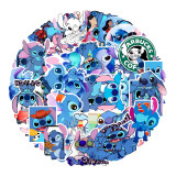 50PCS Stitch Waterproof Stickers Decals for Luggage Laptop Water Bottles