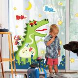 Crocodile Dinosaur Door Room Waterproof Decorative Wall Stickers