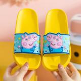 Toddlers Kids Cartoon Peppa George Pig Duck Flat Beach Slippers