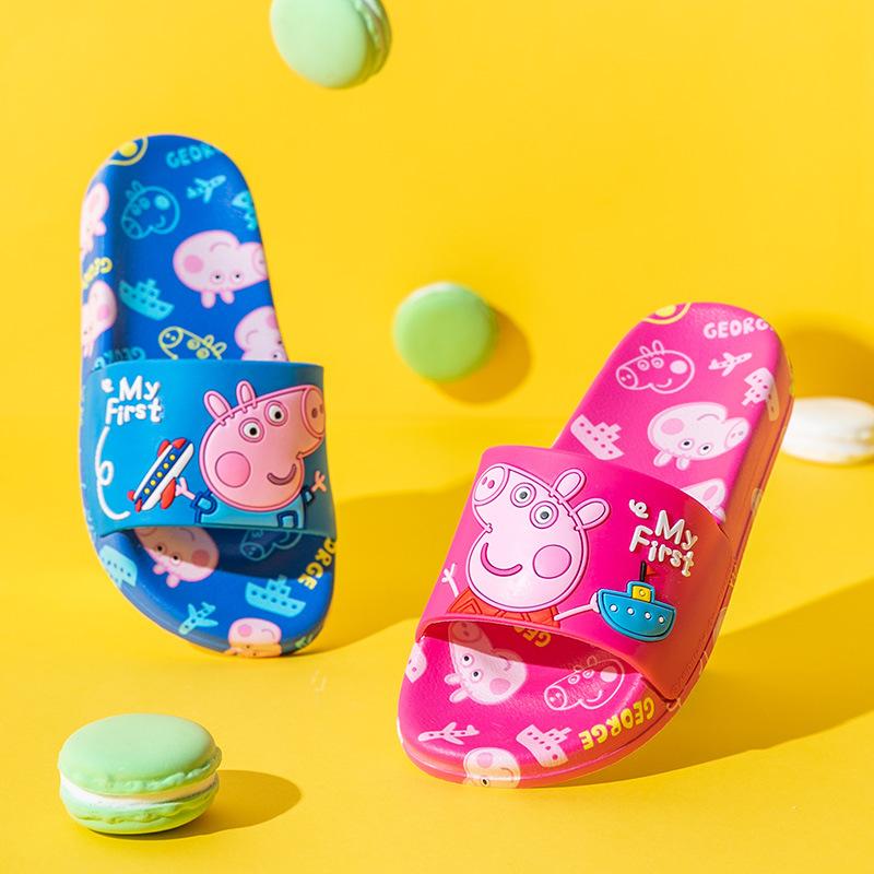 Toddlers Kids Peppa Pig Flat Beach Summer Slippers