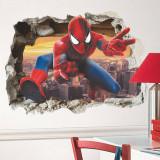 3D Spider Man Door Room Waterproof Decorative Wall Stickers