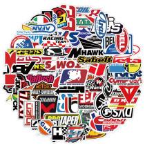 100PCS Car Brand Logo Waterproof Stickers Decals for Motorcycle
