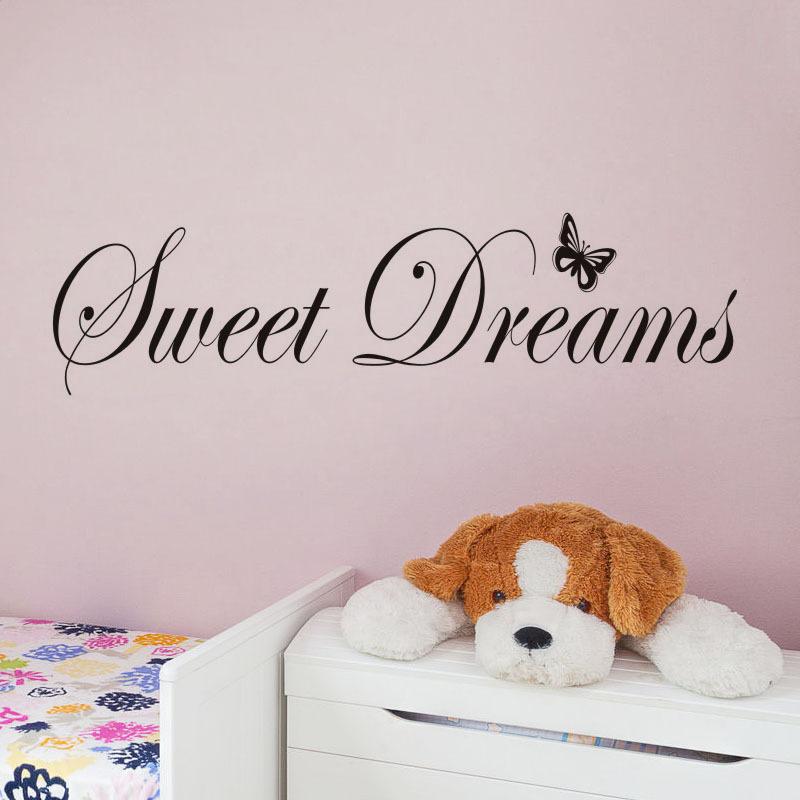 Sweet Dream Butterfly Door Room Waterproof Decorative Wall Stickers
