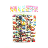 75PCS 5 Different Sheets 3D Hot Cartoon Puffy Stickers For Kids & Toddlers