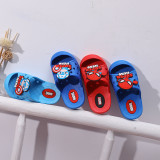 Toddlers Kids Cartoon Captain America Spider Man Flat Beach Hole Shoes Summer Slippers