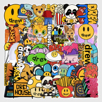 50PCS Emoji Expression Waterproof Stickers Decals for Luggage Laptop Water Bottles