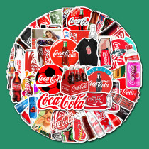 76PCS Coca Cola Waterproof Stickers Decals for Luggage Laptop Water Bottles