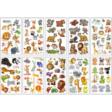 10 Sheets Dinosaurs Insects Oceans Animals Birthday Party Supplies Art Temporary Tattoos for Kids